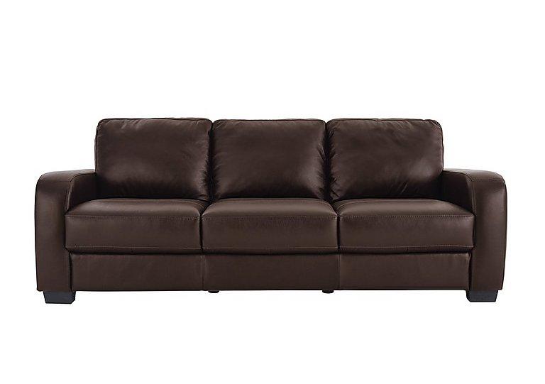 Astor 3 seater leather sofa furniture village for Furniture village sofa