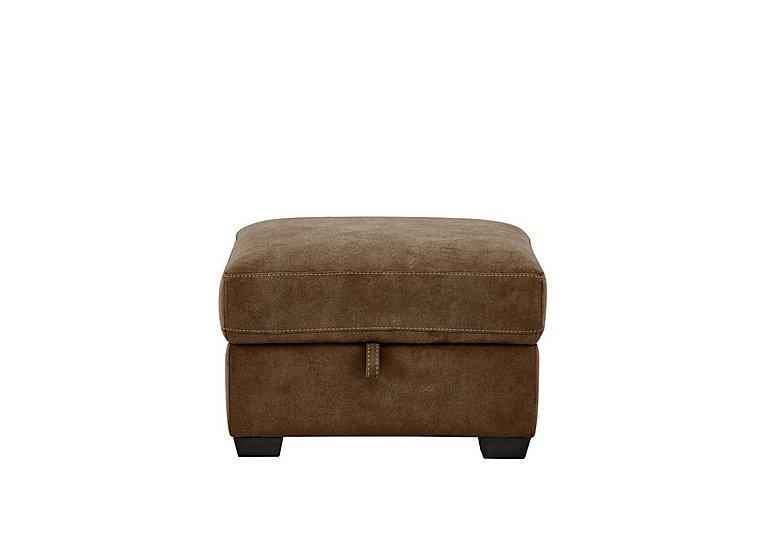 Astor Fabric Storage Footstool in Bfa-Blj-R05 Hazelnut on FV
