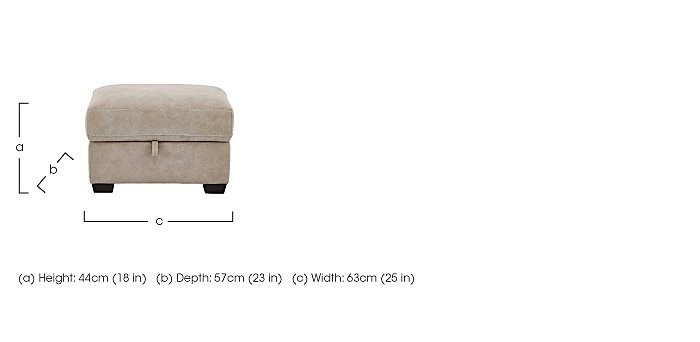 Astor Fabric Storage Footstool in  on FV