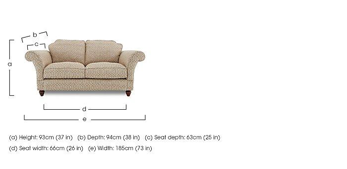 Bancroft 2 Seater Fabric Sofa