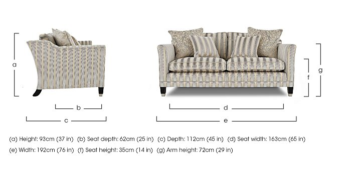 Belgrave 2.5 Seater Fabric Sofa in  on FV