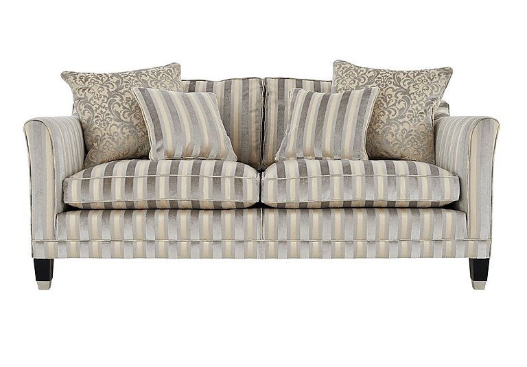 Belgrave 3 Seater Fabric Sofa in Fotheringay Stripe Mo Pearl on Furniture Village