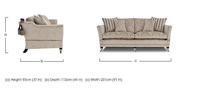 Berkeley 4 Seater Fabric Sofa in  on FV