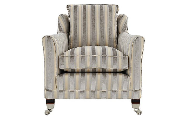 Berkeley Fabric Armchair in Fotheringay Stripe Mo Of Pearl on FV