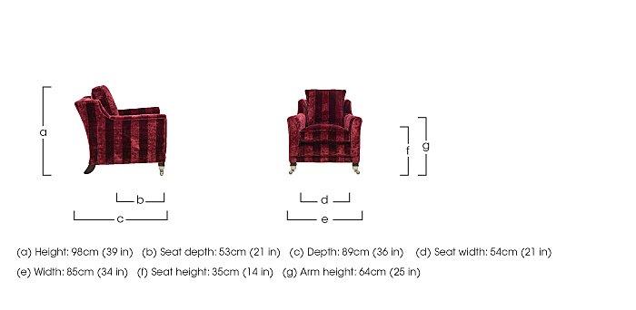 Berkeley Fabric Armchair in  on Furniture Village