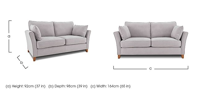 High Street Bond Street 2 Seater Fabric Sofa in  on Furniture Village