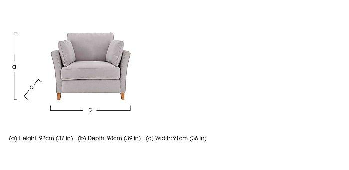 High Street Bond Street Fabric Armchair in  on FV