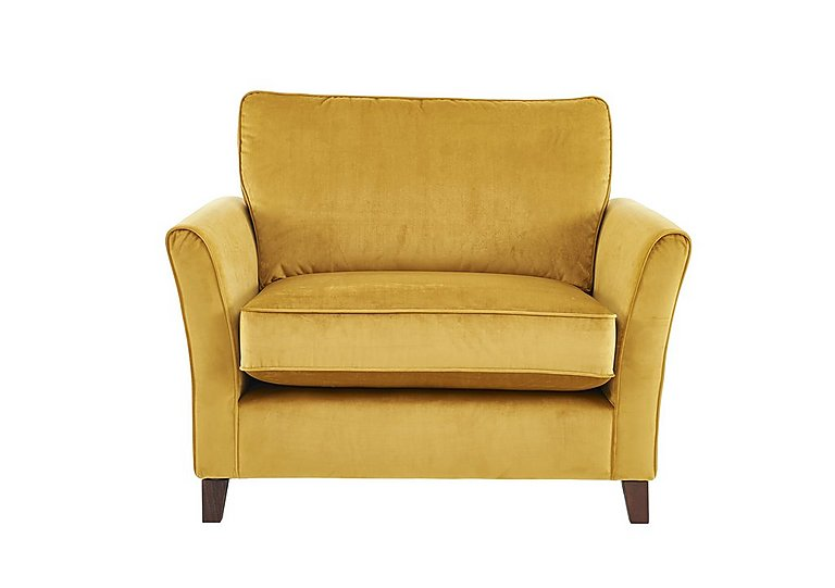 High Street Bond Street Fabric Loveseat in Capri Ochre on Furniture Village