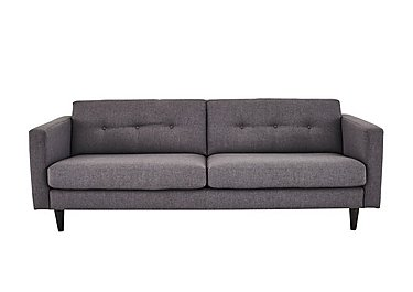 Buttons Large 2 Seater Fabric Sofa in Fab-Bll-13 Ash on FV