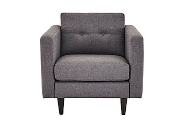Buttons Fabric Armchair in Fab-Bll-13 Ash on FV