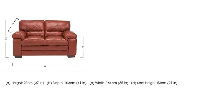 Carolina 2 Seater Leather Sofa in  on FV