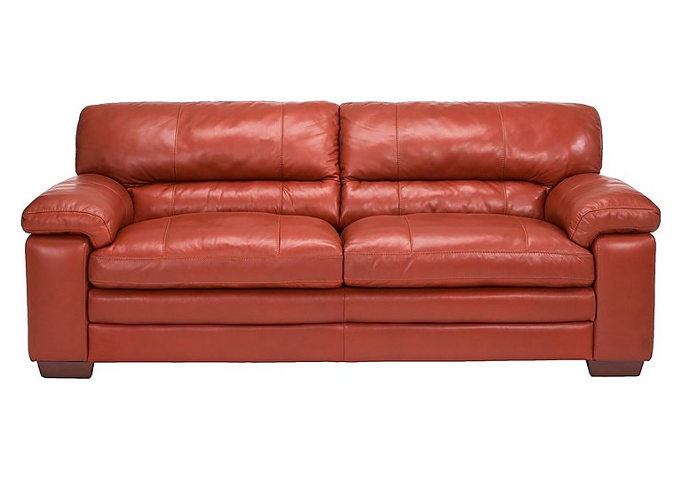 Carolina 3 seater leather sofa world of leather for Furniture village sofa