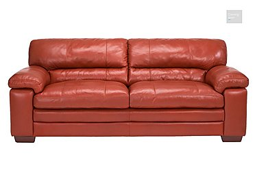 Carolina 3 Seater Leather Sofa  in {$variationvalue}  on FV