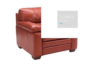 Carolina Leather Armchair in Mb-441c Red on FV