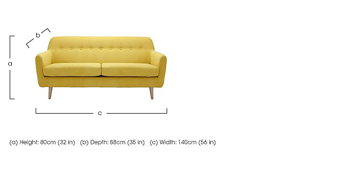 Casper 2 Seater Fabric Sofa in  on FV