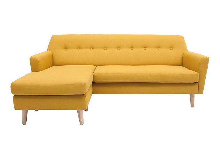 Casper Fabric Chaise in Imperio-401 Mustard-Nat Ft on FV
