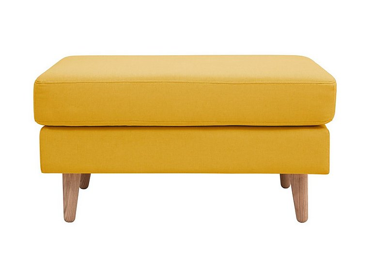 Casper Fabric Footstool in Imperio-401 Mustard-Nat Ft on FV