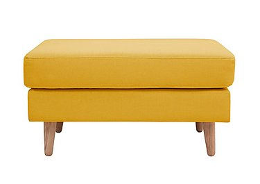 Casper Fabric Footstool in Imperio-401 Mustard-Nat Ft on Furniture Village