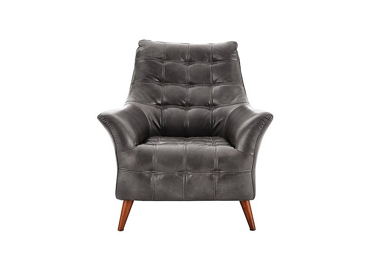 Chaser Leather Armchair in 280/06 Urban Grey on FV