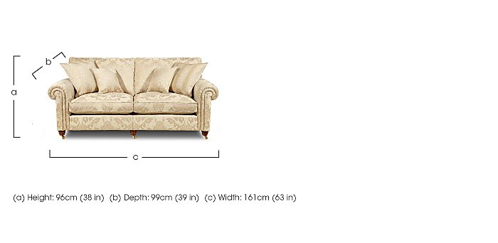 Chelsea Village 2 Seater Fabric Sofa in  on FV