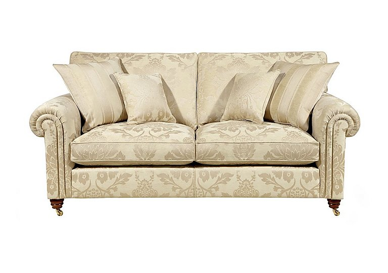 Chelsea Village 2 Seater Fabric Sofa in Wendover Soft Gold on FV