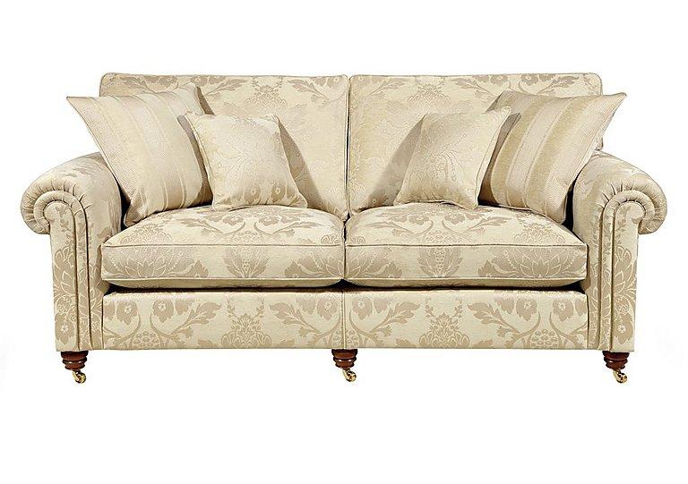 Chelsea Village 3 Seater Fabric Sofa in Rupert Linen on Furniture Village