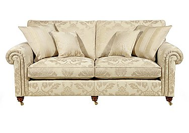 Chelsea Village 3 Seater Fabric Sofa in Wendover Soft Gold on FV