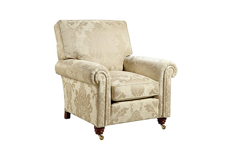 Chelsea Village Fabric Armchair in Wendover Soft Gold on FV