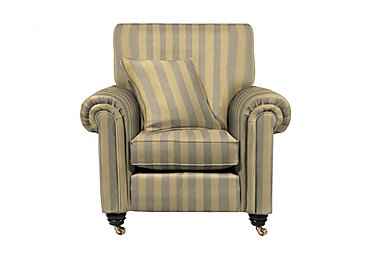 Chelsea Village Fabric Armchair in Oscar Stripe Silver Birch on FV