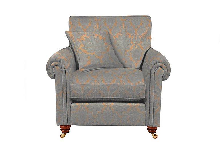 Chelsea Village Fabric Armchair in Oscar Damask Silver Birch on Furniture Village