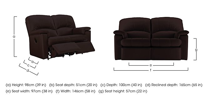Chloe 2 Seater Small Leather Sofa in  on FV