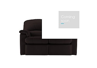 Chloe 2 Seater Small Leather Sofa in P200 Capri Chocolate on FV