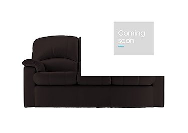 Chloe 3 Seater Small Leather Sofa in P200 Capri Chocolate on FV