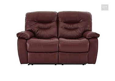 Relax Station Cozy 2 Seater Leather Recliner Sofa  in {$variationvalue}  on FV