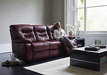 Relax Station Cozy 3 Seater Leather Recliner Sofa in  on FV