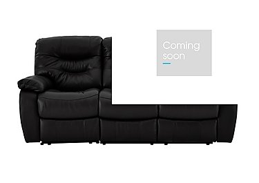 Relax Station Cozy 3 Seater Leather Recliner Sofa in Nc-023c Black on FV