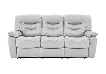 Relax Station Cozy 3 Seater Leather Recliner Sofa in Nc-946b Feather Gray on FV