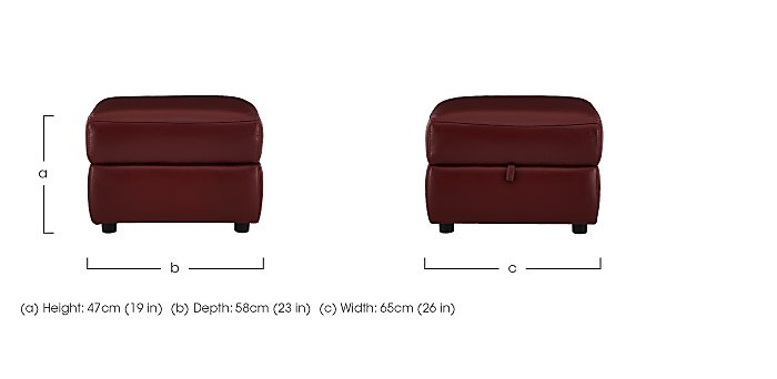 Relax Station Cozy Leather Storage Footstool in  on FV
