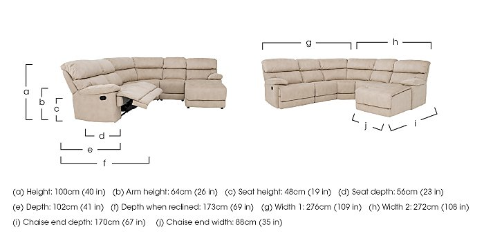 Cupola Recliner Corner Sofa in  on FV