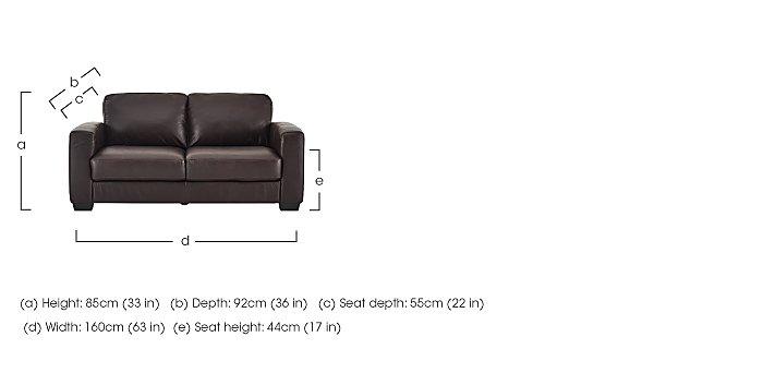 Dante 2 Seater Leather Sofa  in {$variationvalue}  on FV