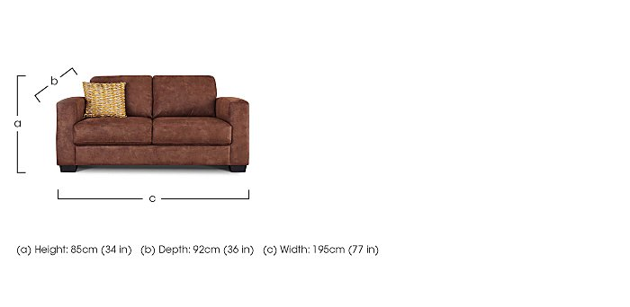 Dante 2.5 Seater Fabric Sofa in  on FV