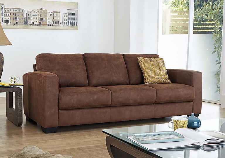 Furniture Village Dante dante 3 seater fabric sofa - furniture village
