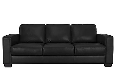 Dante 3 Seater Leather Sofa in Bv-3500 Classic Black on FV