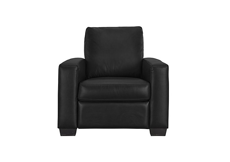 Dante Leather Recliner Armchair in Bv-3500 Classic Black on FV