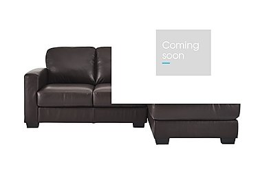 Dante Leather Corner Chaise in Jc157 Warm Brown on FV