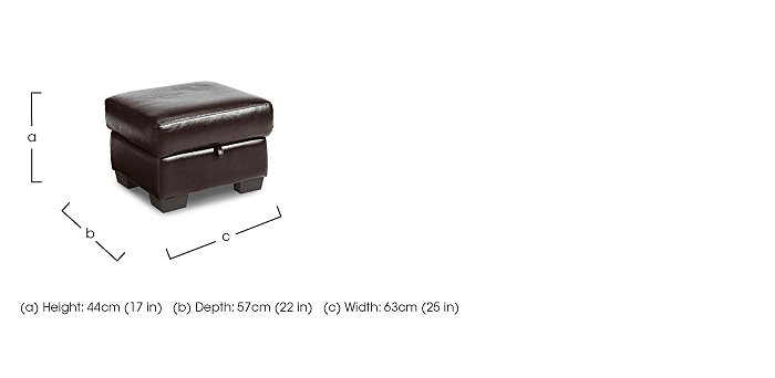 Dante Leather Storage Footstool in  on FV