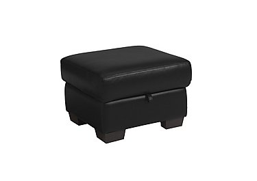Dante Leather Storage Footstool in Bv-3500 Classic Black on FV