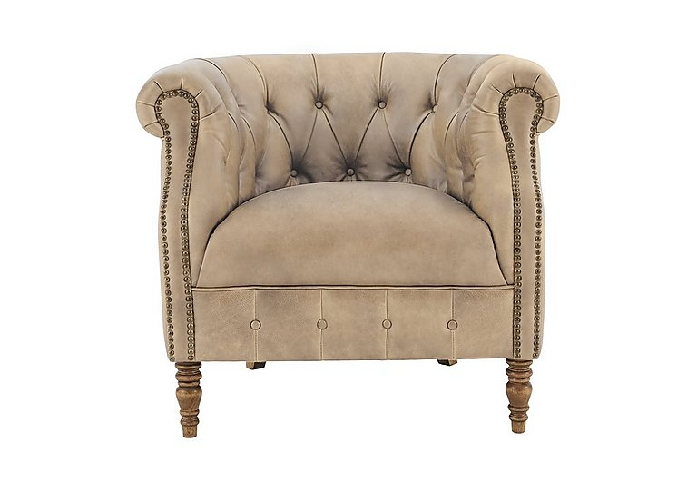 New England Dukes Leather Armchair