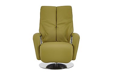 Zerostress Ellington Leather Recliner Armchair in Longlife Rustika - Olive on FV