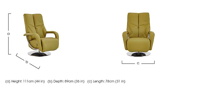 Zerostress Ellington Leather Recliner Armchair  in {$variationvalue}  on FV